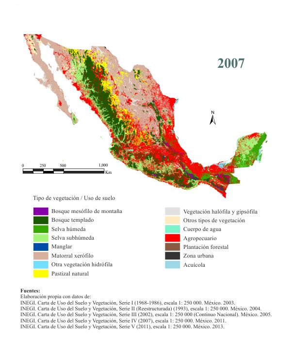 Cambio de uso de suelo y vegetaci n en m xico for 4 usos del suelo en colombia